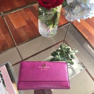 Fushsia Kate Spade Wallet